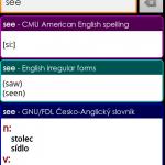 Color Dict – offline česko-anglický slovník