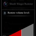 Shush! Ringer Restorer – ztiště telefon jen na určitou dobu
