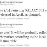 Samsung dnes potvrdil uvedení Galaxy S II v plánovaném termínu