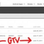 Android market nyní ukazuje Google TV zařízení