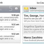 Podoba některých widgetů z Androidu Ice Cream Sandwich