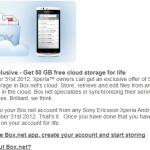 Box.net, 50GB a LG s Sony Ericsson Xperií aneb jak to doopravdy je