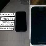 Motorola Atrix 3 nabídne čtyřjádrový procesor, 2GB RAM a 3300mAh baterii