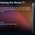 Asus nabízí kompenzaci ₤25 všem kdo si zakoupili Nexus 7 před 29. říjnem