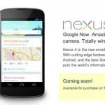 Dnes se začíná prodávat Nexus 4 a Nexus 10 v Google Play