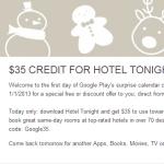 Na Google Play se objevil speciální promo kalendář