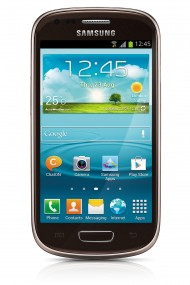 samsung galaxy s iii mini brown front