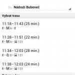 Google Mapy nabízejí vyhledávání spojů veřejné dopravy v Praze
