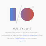 Registrace na Google I/O začíná 13.března