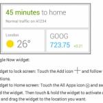 Google zřejmě vydá widget pro aplikaci Google Now