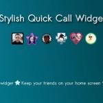 Český zoubek: Stylish Quick Call Widget aneb vytáčejte jedním tapnutím