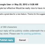 Možnost odpovídat na komentáře zprovozněna pro všechny vývojáře