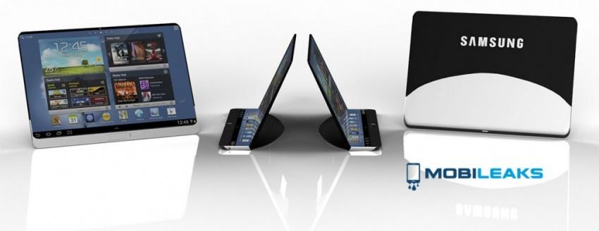 Koncept Samsung Tabletu s ohebným displejem