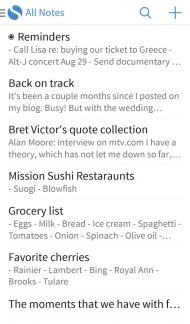 Aplikace Simplenote pro Android