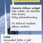 Camera Album: Fotografujte do předdefinovaných alb