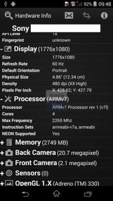 Xperia Z2 UI15