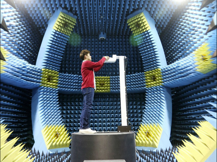 Testovací místnost - měření radiace