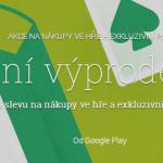 Letní výprodej v Google play