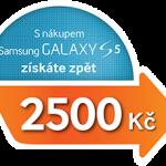 Samsung nabízí Cashback 2500,- Kč při koupi Galaxy S5