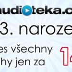 Akce: Audiotéka slaví 3. narozeniny dnes všechny audioknihy za 149 Kč