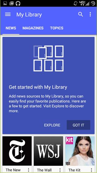 Google Play Newsstand 1