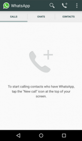 WhatsAPP GUI volani