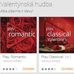 Google Play: Stáhněte si k Valentýnu zdarma dvě alba