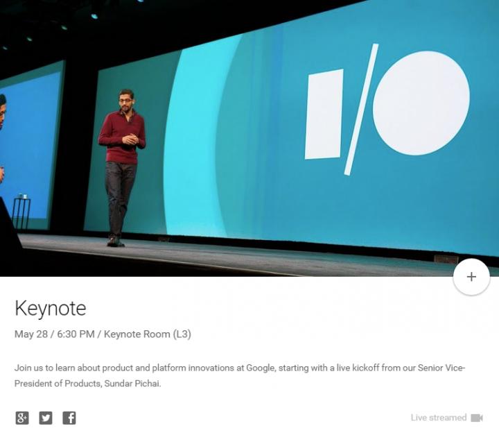 Keynote   Google I O Schedule