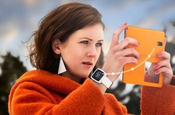 Ukázka přenosu dat z hodinek do mobilu.