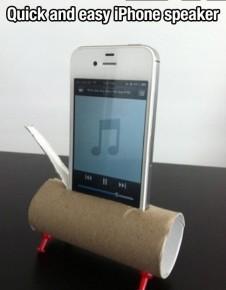 Reproduktor z roličky na toaletní papír