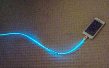 Fosforeskující kabel