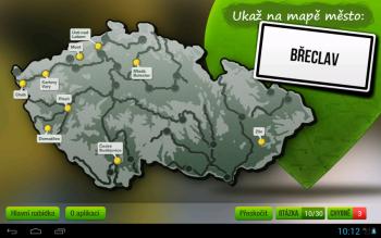 Mapa měst
