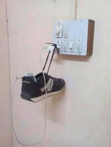 zavěšená bota