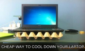 Hrabici s vajíčky dáte pod notebook.