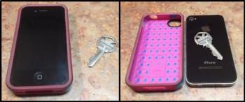 Klíče si můžete schovat do pouzdra na mobil.