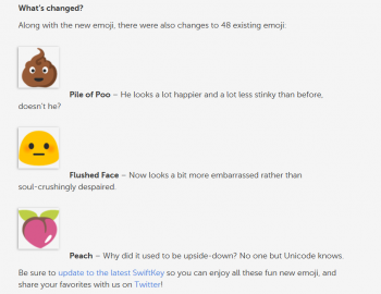 Malá ukázka pozměněných emoji