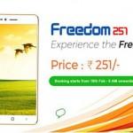 Freedom 251: čtyřjádro s Androidem 5.1 za 100 Kč!