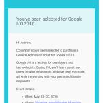 Google začíná rozesílat pozvánky na letošní Google I/O