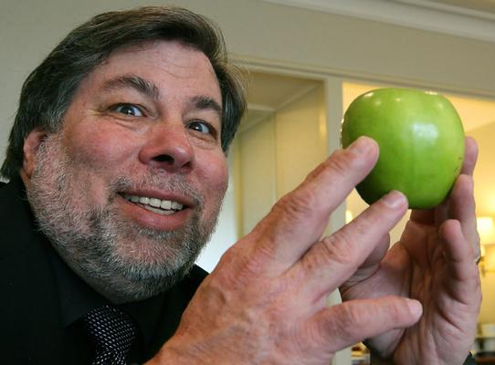 Steve Wozniak, the co-founder of Apple, in Sydney today.