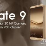 Huawei Mate 9 přijde podle promo obrázku s dvěma 20MP fotoaparáty a procesorem Kirin 960!