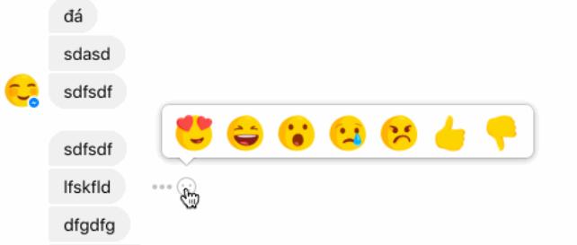 Messenger-reactions