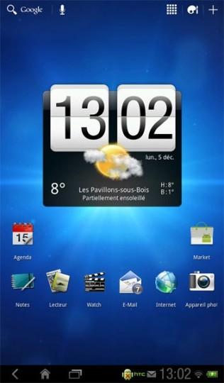 HTC Flayer - HoneyComb