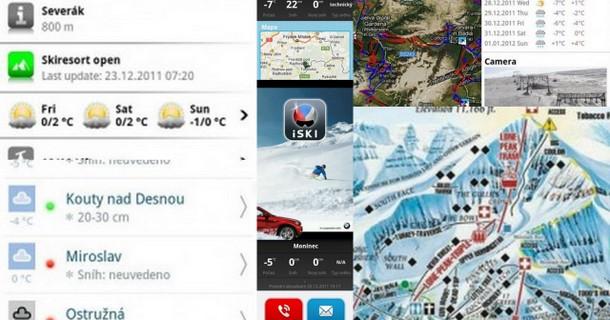 Nejlepší aplikace pro lyžaře