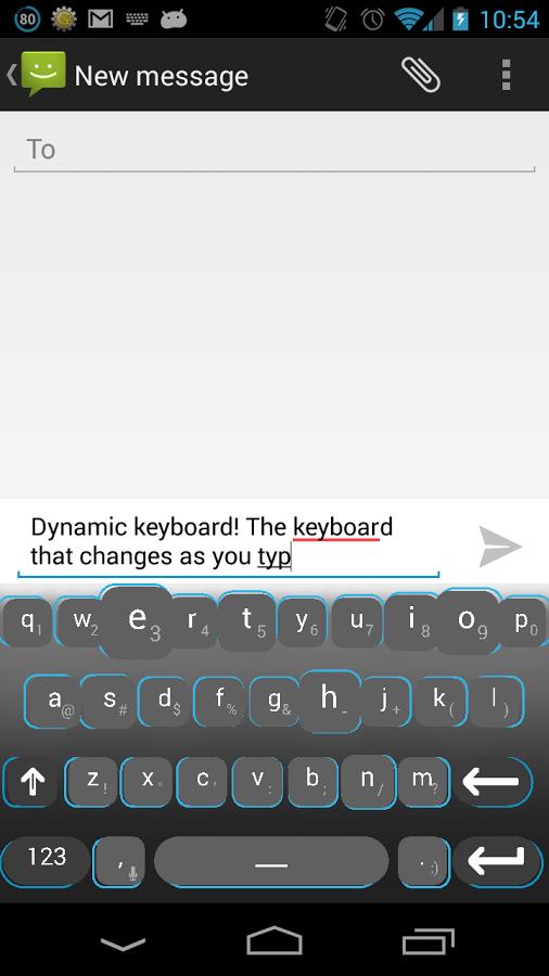 Dynamic Keyboard aplikace