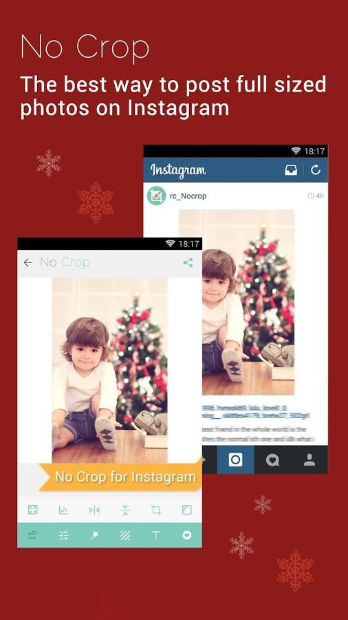 Aplikace|No Crop – nahrávejte fotky na Instagram bez ořezu